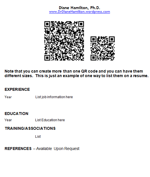 If you used your reader to scan these codes listed here, you can see they  each will send you to a different site. You may just want to send them to  your ...