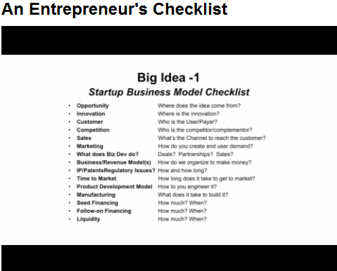 An EntrepreneurS Startup Business Model Checklist  Diane Hamilton