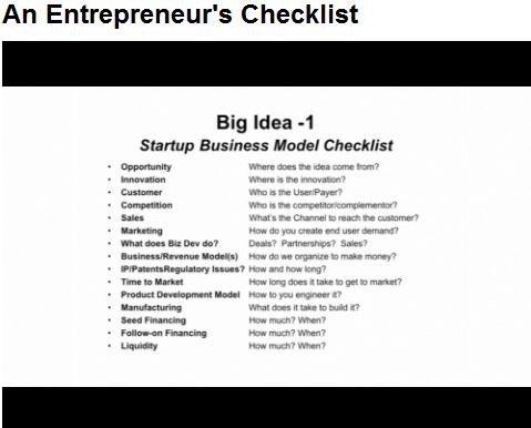 Entrepreneur Checklist