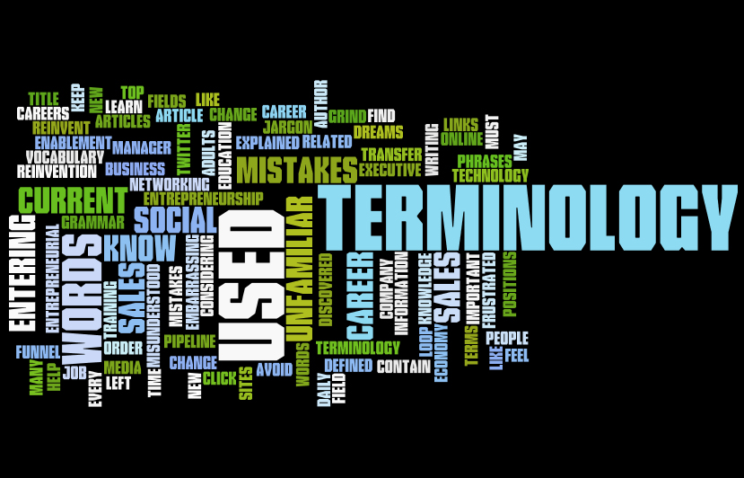 399715dbd3 Learn Terminology Before Changing Careers