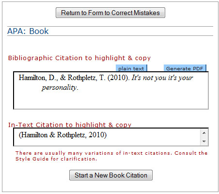 citation machine apa format Automatic works cited and bibliography formatting for mla, apa and chicago/turabian citation styles now supports 7th edition of mla.