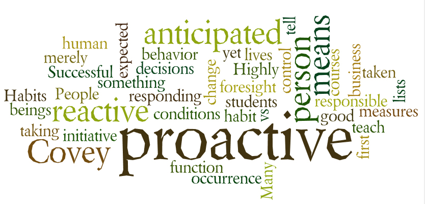 Importance of Being Proactive vs. Reactive | Dr. Diane Hamilton's Blog
