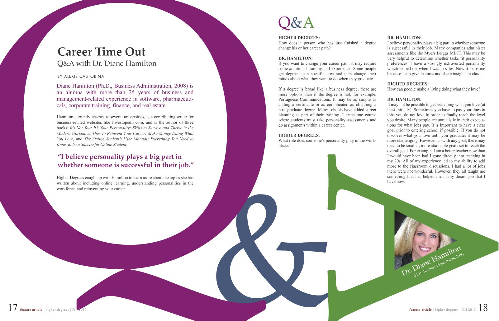 NCU Interviews Dr. Diane Hamilton