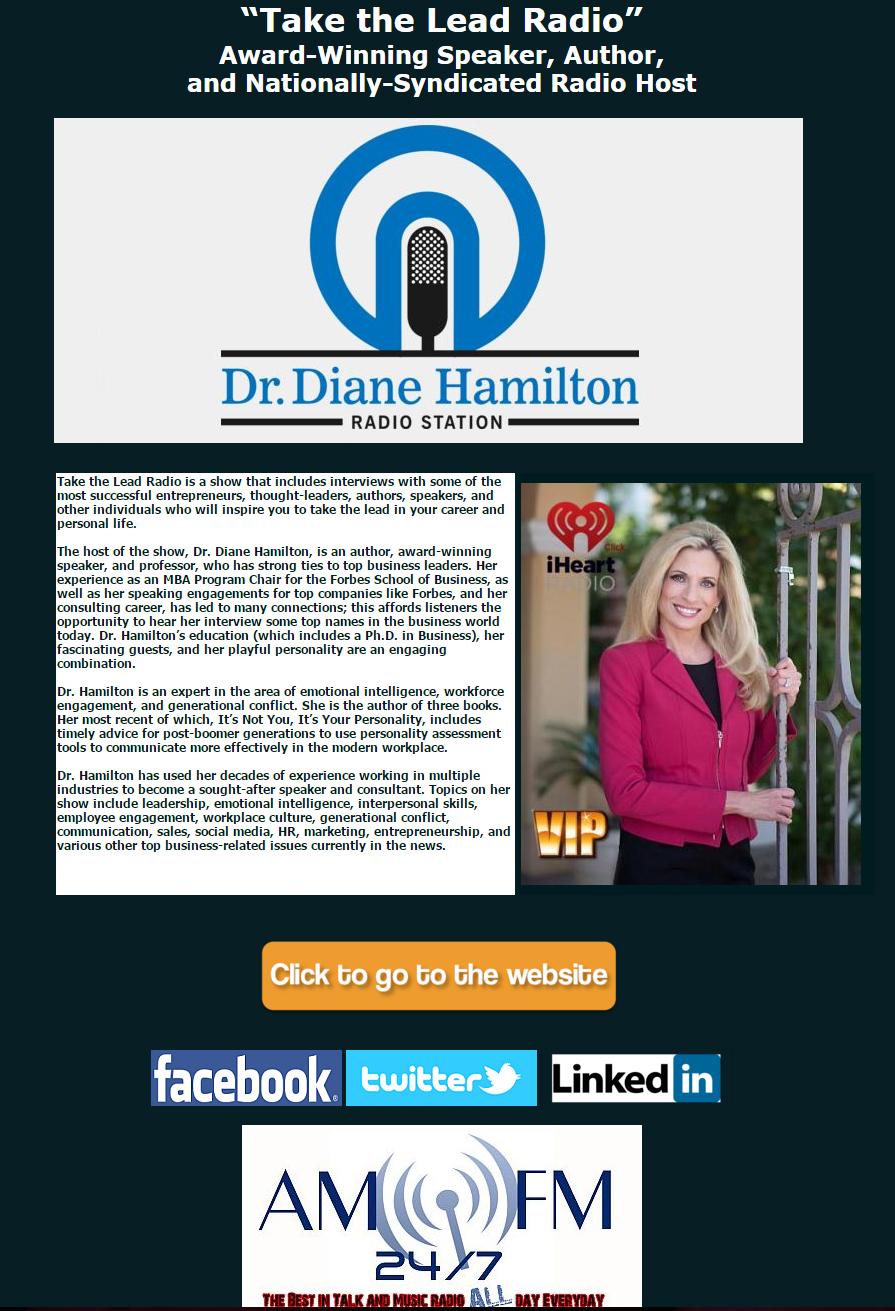 Dr. Diane Hamilton Take The Lead Radio