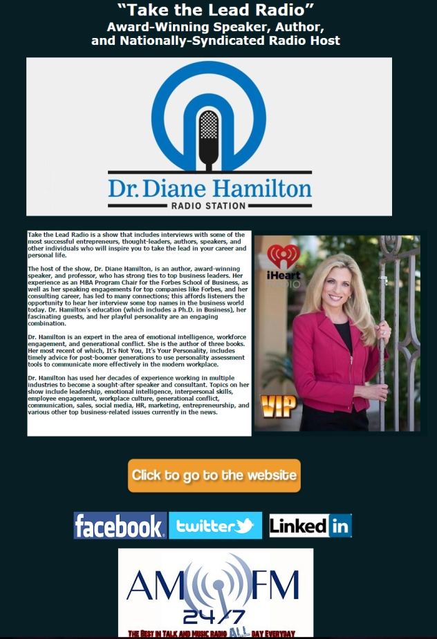 Dr. Diane Hamilton Take The Lead Radio